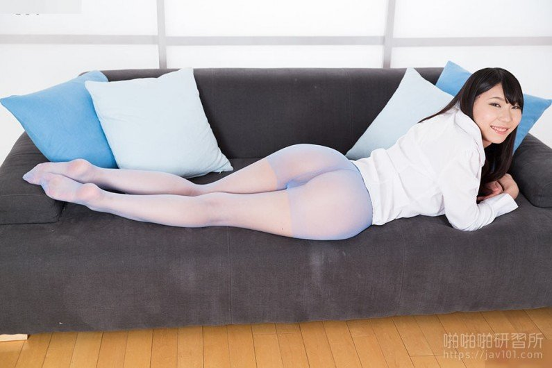Blue Nylon Footjob